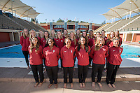 STANFORD, CA,. October 4, 2016—Stanford Women's Water Polo team photo.