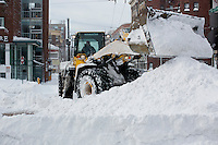 in Cambridge, Massachusetts, USA, on Saturday, Feb. 9, 2013, after Winter Storm Nemo hit the area.