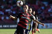 9th February 2019, Spotless Stadium, Sydney, Australia; A League football, Western Sydney Wanderers versus Central Coast Mariners; Tass Mourdoukoutas of the Western Sydney Wanderers has his eye on the ball