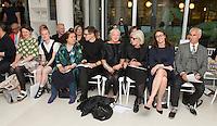 Holly Fulton, Louise Gray, Suzy Menkes, Erdem, OBE Wendy Dagworthy, Betty Jackson, Caroline Rush and Simon Ward