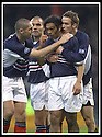 23/11/2002                   Copyright Pic : James Stewart.File Name : stewart-dundee v utd11.CABBALLERO IS CONGRATULATED AFTER SCORING THE FIRST....Payments to :-.James Stewart Photo Agency, 19 Carronlea Drive, Falkirk. FK2 8DN      Vat Reg No. 607 6932 25.Office     : +44 (0)1324 570906     .Mobile  : +44 (0)7721 416997.Fax         :  +44 (0)1324 570906.E-mail  :  jim@jspa.co.uk.If you require further information then contact Jim Stewart on any of the numbers above.........