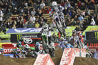 01/22/11 Los Angeles, CA:  Justin Brayton during the 1st ever AMA Supercross held at Dodger Stadium.