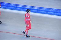 SCHAATSEN: HEERENVEEN: IJsstadion Thialf, 03-06-2013, training merkenteams op zomerijs, Gianni Romme (trainer Team LIGA), ©foto Martin de Jong