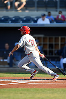 Palm Beach Cardinals third baseman Breyvic Valera (32) during a game against the Charlotte Stone Crabs on April 12, 2014 at Charlotte Sports Park in Port Charlotte, Florida.  Palm Beach defeated Charlotte 6-2.  (Mike Janes/Four Seam Images)