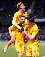 Preston North End's Paul Gallagher is congratulated by Callum Robinson &amp; Josh Earl after scoring his side's equalising goal to make the score 1-1<br /> <br /> Photographer David Shipman/CameraSport<br /> <br /> The EFL Sky Bet Championship - Ipswich Town v Preston North End - Saturday 3rd November 2018 - Portman Road - Ipswich<br /> <br /> World Copyright &copy; 2018 CameraSport. All rights reserved. 43 Linden Ave. Countesthorpe. Leicester. England. LE8 5PG - Tel: +44 (0) 116 277 4147 - admin@camerasport.com - www.camerasport.com