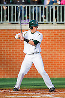 Justin Seager #10 of the Charlotte 49ers at bat against the Tennessee Tech Golden Eagles at Robert and Mariam Hayes Stadium on March 8, 2011 in Charlotte, North Carolina.  Photo by Brian Westerholt / Four Seam Images