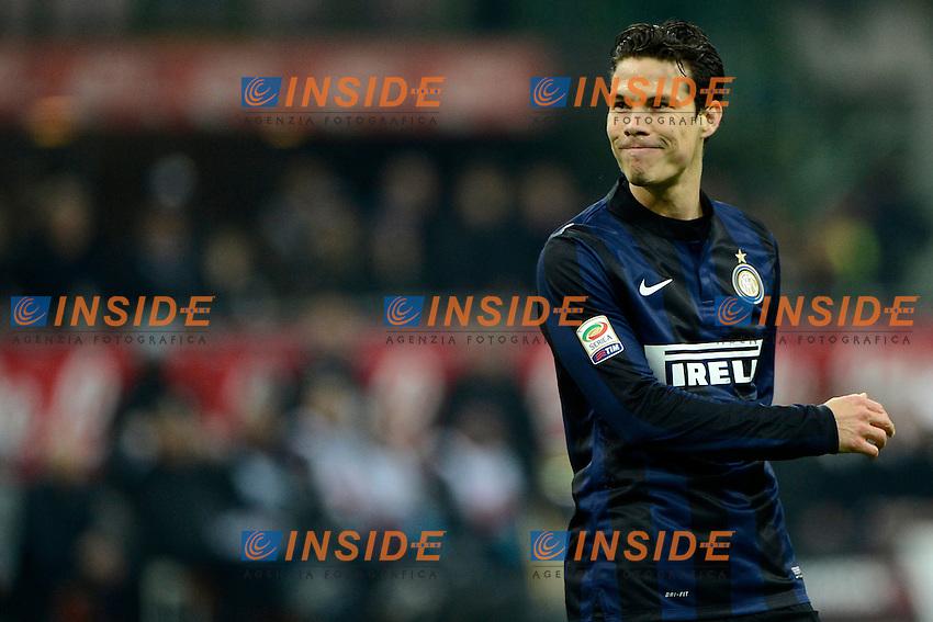 Hernanes Inter<br /> Milano 09-02-2014 Stadio Giuseppe Meazza - Football 2013/2014 Serie A. Inter - Sassuolo Foto Giuseppe Celeste / Insidefoto