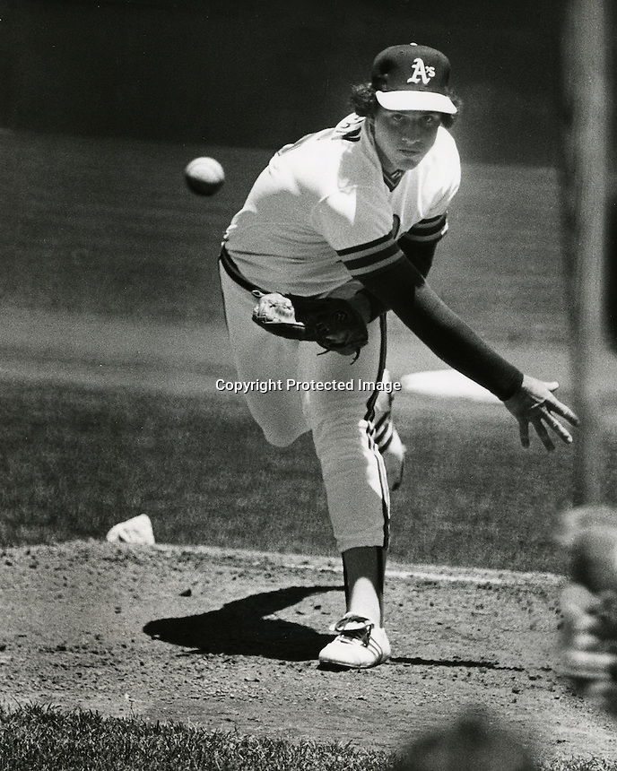 Rookie debut of Mike Morgan, June 11, 1978.<br />(photo/Ron Riesterer/Photoshelter)