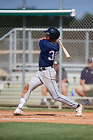 Austin Plante during the WWBA World Championship at the Roger Dean Complex on October 18, 2018 in Jupiter, Florida.  Austin Plante is an outfielder from Austin, Texas who attends Lake Travis High School and is committed to TCU.  (Mike Janes/Four Seam Images)