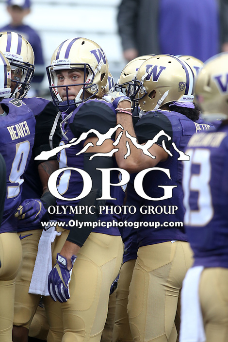 03 September 2016:  Washington's Connor Griffin against Rutgers.  Washington defeated Rutgers 48-13 at the University of Washington in Seattle, WA.