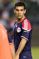 New York Red Bulls midfielder Rafael Marquez looks on. New York Red Bulls midfielder Rafael Marquez looks on. LA The New York Red Bulls beat the LA Galaxy 2-0 at Home Depot Center stadium in Carson, California on Friday September 24, 2010.