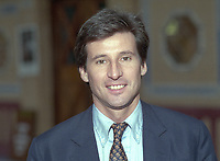 Sebastian Coe, MP, Conservative Party, at annual conference, Blackpool, 1995. The former athlete later became Lord Coe. 199510001416<br /><br />Copyright Image from Victor Patterson, Belfast, UK, BT9 5HG<br /><br />t: +44 28 9066 1296 <br />(from Rep of Ireland 048 9066 1296) <br />m: +44 7802 353836 <br />victorpattersonbelfast@gmail.com <br />www.victorpatterson.com<br /><br />Please see my Terms and Conditions of Use at https://www.victorpatterson.com/page2 <br /><br />It is IMPORTANT that you familiarise yourself with them.<br /><br />Images used on the Internet incur an additional cost and must be visibly watermarked i.e. © Victor Patterson within the body of the image and copyright metadata must not be deleted. Images used on the Internet have a size restriction of 4kbs and are chargeable at rates available at victorpatterson.com.<br /><br />This image is only available for the use of the download recipient i.e. television station, newspaper, magazine, book publisher, etc, and must not be passed on to any third party. It is also downloaded on condition that each and every usage is notified within 7 days to victorpattersonbelfast@gmail.com<br /><br />The right of Victor Patterson to be identified as the author is asserted in accordance with The Copyright Designs And Patents Act (1988). All moral rights are asserted.