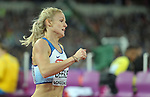 Meghan BEESLEY (GBR) in the womens 400m hurdles semi-finals. IAAF world athletics championships. London Olympic stadium. Queen Elizabeth Olympic park. Stratford. London. UK. 08/08/2017. ~ MANDATORY CREDIT Garry Bowden/SIPPA - NO UNAUTHORISED USE - +44 7837 394578