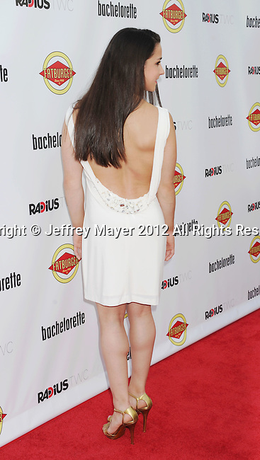 HOLLYWOOD, CA - AUGUST 23: Aly Raisman arrives at the Los Angeles premiere of 'Bachelorette' at the Arclight Hollywood on August 23, 2012 in Hollywood, California.