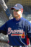 5 March 2007: Atlanta Braves third baseman Chipper Jones prepares to take batting practice prior to facing the Washington Nationals at Disney's Wide World of Sports in Orlando, Florida. The Braves are celebrating 10 years of Spring Training at the Disney facility.<br /> <br /> Mandatory Photo Credit: Ed Wolfstein Photo