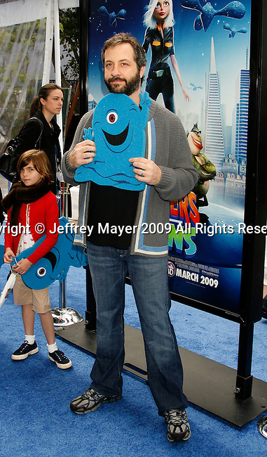 """UNIVERSAL CITY, CA. - March 22: Judd Apatow arrives at the Los Angeles premiere of """"Monsters vs. Aliens"""" at the Gibson Amphitheatre on March 22, 2009 in Universal City, California."""