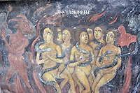 BG41213.JPG BULGARIA, RILA MONASTERY, CHURCH OF NATIVITY, frescoes
