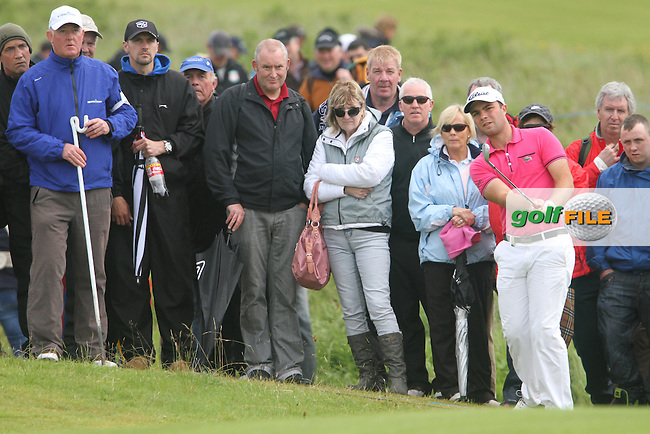 Edouard Dubois (FRA) on the 16th on Day 4 of the 2012 Irish Open at Royal Portrush Golf Club, Portrush, Co.Antrim, 1/7/12...(Photo Jenny Matthews/www.golffile.ie)