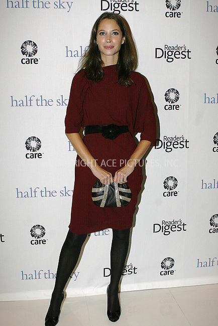 WWW.ACEPIXS.COM . . . . .  ....September 23 2009, New York City....Model Christy Turlington Burns attends the ''Half The Sky'' book party by Reader's Digest and C.A.R.E. at Moura Starr  on September 23, 2009 in New York City.....Please byline: NANCY RIVERA- ACE PICTURES.... *** ***..Ace Pictures, Inc:  ..tel: (212) 243 8787 or (646) 769 0430..e-mail: info@acepixs.com..web: http://www.acepixs.com
