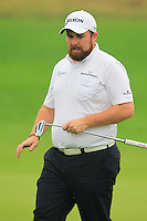 Shane Lowry (IRL) on the 1st green during Thursday's Round 1 of the 2014 BMW Masters held at Lake Malaren, Shanghai, China 30th October 2014.<br /> Picture: Eoin Clarke www.golffile.ie