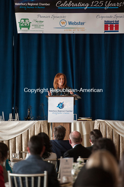 PROSPECT, CT-24 March 2015-032415EC01-  Tamara Lundgren, the Chairman of the Board of the U.S. Chamber of Commerce, was the keynote speaker at Tuesday's 125th annual Waterbury Regional Chamber of Commerce Business Meeting. The luncheon was held at Aria Wedding and Banquet Facility. Lundgren is also the president & CEO of Schnitzer Steel Industries, Inc. The program included thank you's to longstanding member companies. Erin Covey Republican-American