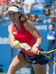 Johanna Konta (GBR) takes the first set against Andrea Petkovic (GER) 7-6 at the US Open in Flushing, MY on September 5, 2015.