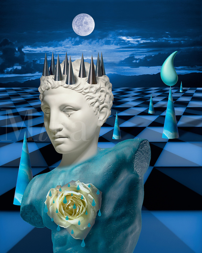 Digital illustration: Melancholy.