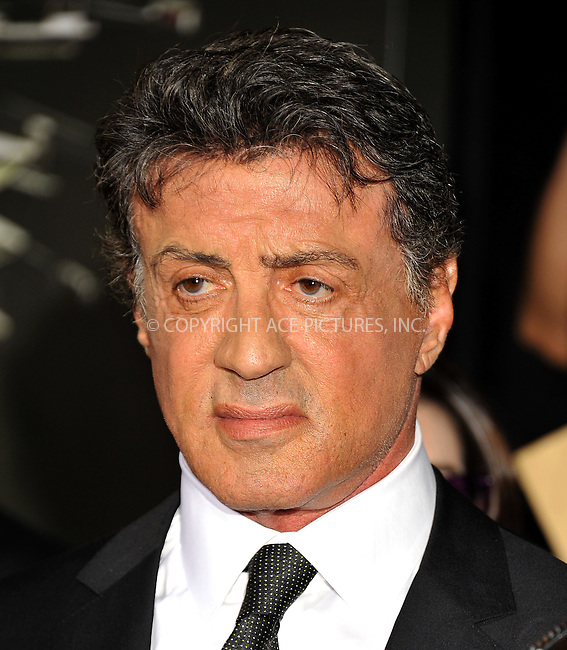 WWW.ACEPIXS.COM......August 15, 2012, Los Angels, CA.......Sylvester Stallone arriving at the Los Angeles Premiere of 'The Expendables 2' on August 15, 2012 in Hollywood, CA.......By Line: Peter West/ACE Pictures....ACE Pictures, Inc..Tel: 646 769 0430..Email: info@acepixs.com