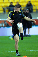 Hurricanes' Dane Coles warms up during the Super Rugby quarterfinal between the Hurricanes and Bulls at Westpac Stadium in Wellington, New Zealand on Saturday, 22 June 2019. Photo: Dave Lintott / lintottphoto.co.nz