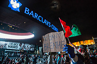 NEW YORK, NEW YORK - JUNE 1: Protesters gather at Barclays Center in Brooklyn on June 1, 2020 in New York. The protests spread across the country in at least 30 cities across the United States, over the death of unarmed black man George Floyd at the hands of a police officer, this is the latest death in a series of police deaths of black Americans. Today is the first night of a curfew in New York City (Photo by Pablo Monsalve / VIEWpress via Getty Images)