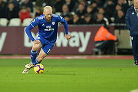 Josh Murphy Of Cardiff City FC during West Ham United vs Cardiff City, Premier League Football at The London Stadium on 4th December 2018