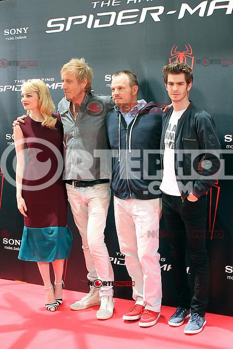 Emma Stone, Rhys Ifans, Marc Webb, Andrew Garfield - The Amazing Spider-Man - photocall in Madrid NORTEPHOTO.COM<br /> **SOLO*VENTA*EN*MEXICO**<br /> **CREDITO*OBLIGATORIO** <br /> *No*Venta*A*Terceros*