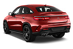 Car pictures of rear three quarter view of a 2018 Mercedes Benz GLE-Class Coupe GLE43 AMG 4MATIC 5 Door SUV angular rear