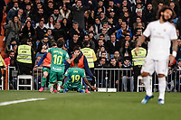 6th February 2020; Estadio Santiago Bernabeu, Madrid, Spain; Copa Del Rey Football, Real Madrid versus Real Sociedad; Alexander Isak (Real Sociedad)  celebrates his goal which made it 0-2 in the 54th minute