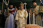 Israel, Jerusalem, Greek Orthodox Ascension Day ceremony at the Ascension Chapel on the Mount of Olives