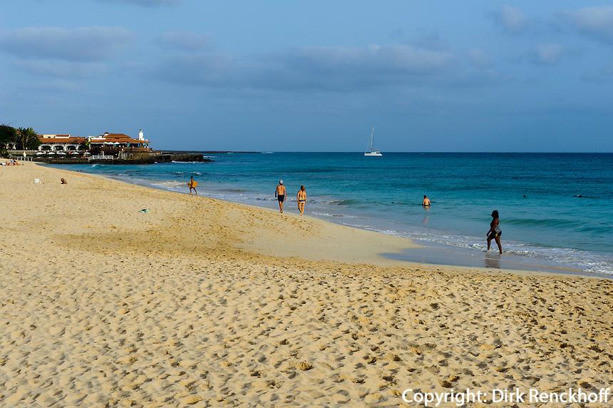 Strand von  Santa Maria, Sal, Kapverden, Afrika
