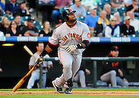 May 6, 2009: Giants 3rd baseman Pablo Sandoval during a game between the San Francisco Giants and the Colorado Rockies at Coors Field in Denver, Colorado. The Rockies beat the Giants 11-1.
