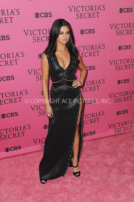 WWW.ACEPIXS.COM<br /> <br /> November 10 2015, New York City<br /> <br /> Singer Selena Gomez walks the Pink Carpet ahead of the 2015 Victoria's Secret Runway Show at the Lexington Armoury on November 10 2015 in New York City<br /> <br /> By Line: Kristin Callahan/ACE Pictures<br /> <br /> <br /> ACE Pictures, Inc.<br /> tel: 646 769 0430<br /> Email: info@acepixs.com<br /> www.acepixs.com
