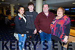 Sonya Misztil, Adam, Liz and Trevor Cronin from Ballyduff enjoying the night in Kingdom Greyhound track on Friday night.