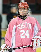 Taylor Holze (BU - 24) - The Boston University Terriers defeated the visiting Northeastern University Huskies 3-2 on Saturday, January 28, 2012, at Agganis Arena in Boston, Massachusetts.