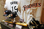 21 May 2007:  Artifacts from Tony Gwynn's career are on display in the Baseball Hall of Fame Museum in Cooperstown, NY. Gwynn is scheduled to be inducted into the Baseball Hall of Fame on July 29, 2007...Mandatory Credit: Ed Wolfstein Photo