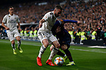 Real Madrid CF's Dani Carvajal and FC Barcelona's Lionel Messi  during Spanish Kings Cup semifinal 2nd leg match. February 27, 2019. (ALTERPHOTOS/Manu R.B.)