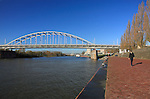 "The bridge over the Rhine river, focal point of the Battle of Arnhem, September 1944, and subject of the movie ""A Bridge Too Far"", Arnhem, The Netherlands."