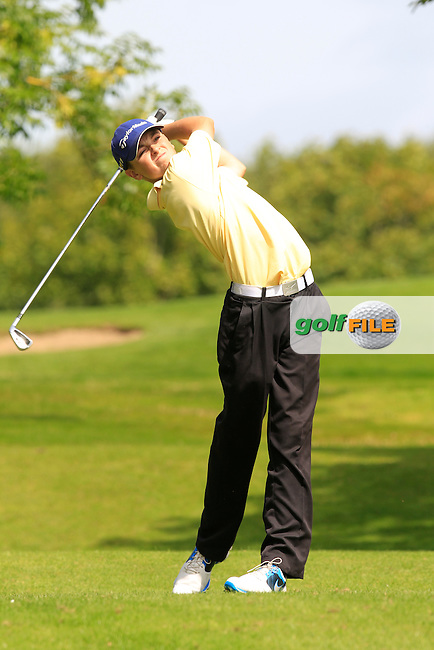 Gareth Kilgallon (Cloverhill) on the 11th tee during the Irish Boys Under 15 Amateur Open Championship Round 2 at the West Waterford Golf Club on Wednesday 21st August 2013 <br /> Picture:  Thos Caffrey/ www.golffile.ie