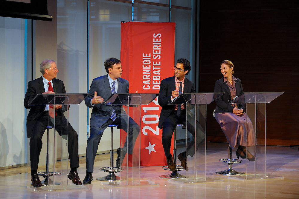 A debate at The Times Center, NYC
