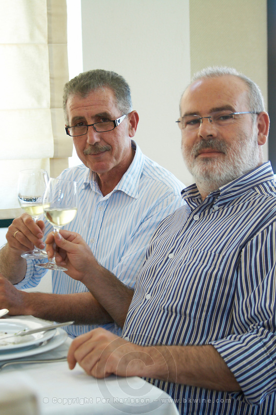 Yiannis Papadopoulos and Yiannis Kalaitzidis, owners. Wine Art Estate Winery, Microchori, Drama, Macedonia, Greece