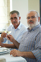 Yiannis Papadopoulos and Yiannis Kalaitzidis, owners. Wine Art Estate Winery, Microchori, Drama, Macedonia, Greece