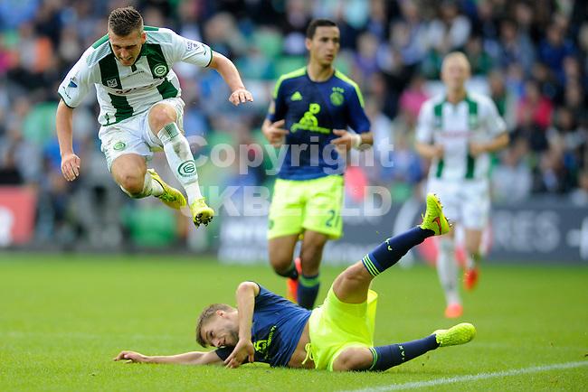 GRONINGEN - Voetbal, FC Groningen - Ajax,  Eredivisie, Euroborg, seizoen 2014-2015, 31-08-2014,