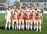 20190324 - OOSTAKKER , BELGIUM : Anderlecht's Justien Odeurs , Tine De Caigny , Ella Van Kerkhoven , Britt Vanhamel , Sheryl Merchiers , Laura De Neve , Elke Van Gorp , Charlotte Tison , Sarah Wijnants , Laura Deloose and Stefania Vatafu pictured posing for the teampicture before the quarter final of Belgian cup 2019 , a womensoccer game between KAA Gent Ladies and RSC Anderlecht , at the PGB stadion in Oostakker , sunday 24 th March 2019 . PHOTO SPORTPIX.BE | DAVID CATRY