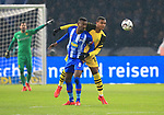 16.03.2019, OLympiastadion, Berlin, GER, DFL, 1.FBL, Hertha BSC VS. Borussia Dortmund, <br /> DFL  regulations prohibit any use of photographs as image sequences and/or quasi-video<br /> <br /> im Bild Salomon Kalou  (Hertha BSC Berlin #8), Manuel Akanji (Borussia Dortmund #16)<br /> <br />       <br /> Foto &copy; nordphoto / Engler